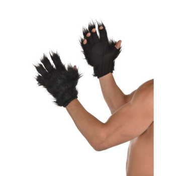 Image de ANIMAL - BLACK FURRY GLOVES