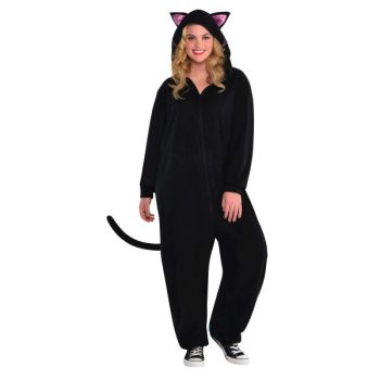 Picture of BLACK CAT ZIPSTER - ADULT LARGE / XLARGE