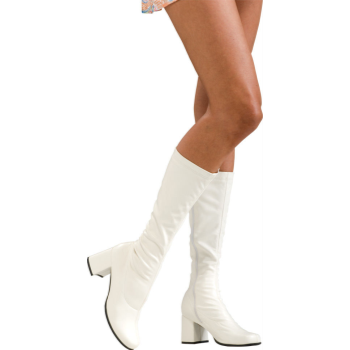 Picture of 60'S WHITE GOGO BOOTS - LARGE