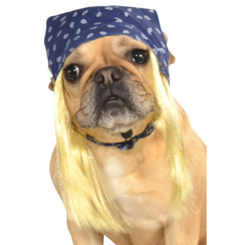 Image de ROCK STAR BANDANA WITH HAIR - SMALL/MEDIUM