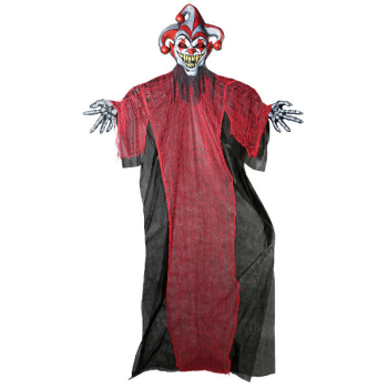 Picture of 12' LIGHT UP SCARY PROP - JESTER
