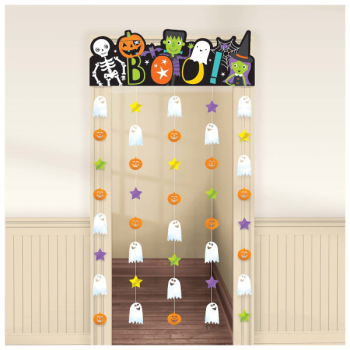 Picture of HALLOWEEN FRIEND DOOR CURTAIN