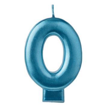 Picture of BLUE NUMERAL CANDLE - 0