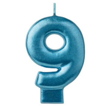 Picture of BLUE NUMERAL CANDLE - 9