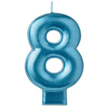Picture of BLUE NUMERAL CANDLE - 8