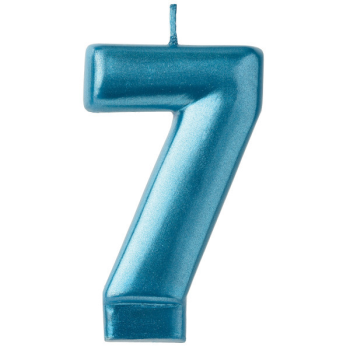 Picture of BLUE NUMERAL CANDLE - 7