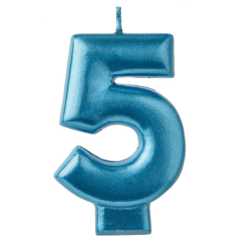 Picture of BLUE NUMERAL CANDLE - 5