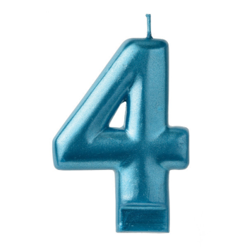 Picture of BLUE NUMERAL CANDLE - 4
