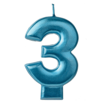 Picture of BLUE NUMERAL CANDLE - 3