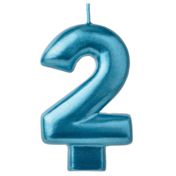 Picture of BLUE NUMERAL CANDLE - 2