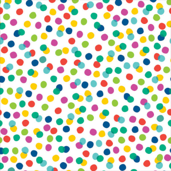 Image de JUMBO GIFT WRAP 16' - MULTI COLOR DOT