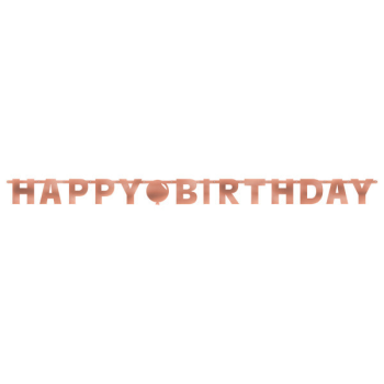 Picture of DECOR - BLUSH BIRTHDAY LETTER BANNER