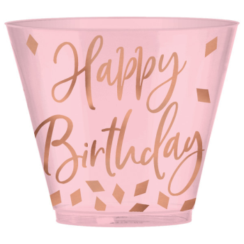 Picture of TABLEWARE - BLUSH BIRTHDAY - 9oz PLASTIC CUP