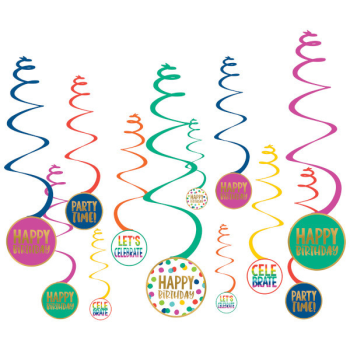 Picture of DECOR - HAPPY DOTS SWIRL DECORATIONS