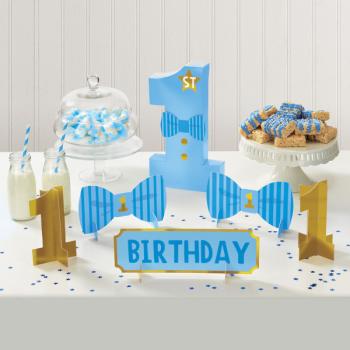 Image de DECOR - 1st BIRTHDAY TABLE CENTREPIECE DECORATING KIT - BLUE