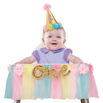 Image de DECOR - 1st BIRTHDAY DELUXE HIGH CHAIR DECORATION - PINK