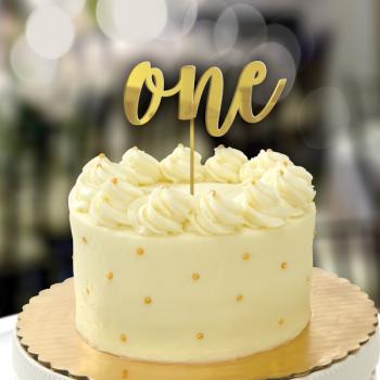 Image de DECOR - 1st BIRTHDAY MIRROR CAKE TOPPER - GOLD