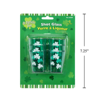 Picture of WEARABLES - ST. PATRICK'S SHOT GLASSES