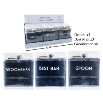 Picture of GROOM'S PARTY FLASK
