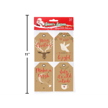 Image de DECOR - GIFT BAG - CHRISTMAS KRAFT PAPER GIFT TAG