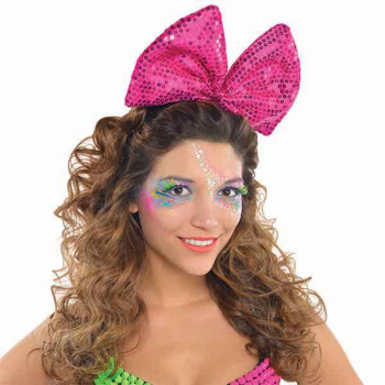 Image de 80'S LITE UP SEQUIN BOW HEADBAND