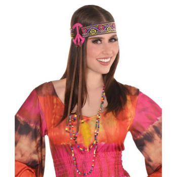 Image de 60'S HIPPIE PEACE SIGN HEADBAND