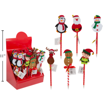 Image de DECOR - CHRISTMAS BALL PEN WITH FELT CHARACTERS