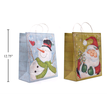 Image de DECOR - GIFT BAG - CHRISTMAS KRAFT BAG - LARGE
