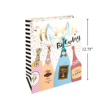 Picture of BIRTHDAY BOTTLES GIFT BAG - LARGE