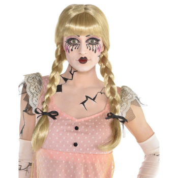 Image de CREEPY DOLL WIG WITH BRAIDS