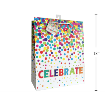 Picture of CELEBRATE DOTS GIFT BAG - JUMBO