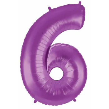 Picture of 40'' NUMBER 6 SUPERSHAPE - PURPLE