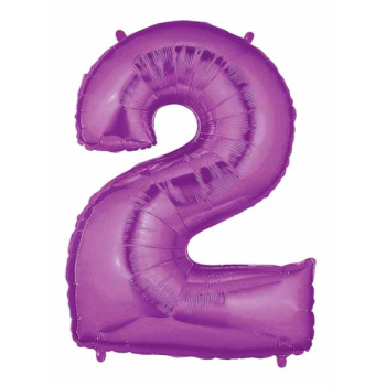 Picture of 40'' NUMBER 2 SUPERSHAPE - PURPLE
