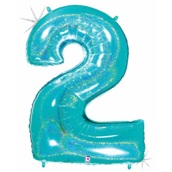 Picture of 40'' NUMBER 2 SUPERSHAPE - TURQUOISE