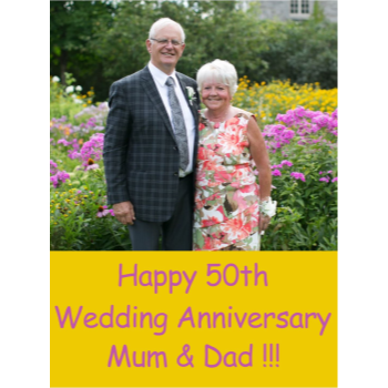 Picture of LAWN YARD SIGN - WEDDING ANNIVERSARY - PERSONALIZE