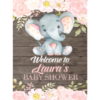 Picture of LAWN YARD SIGN - BABY SHOWER - PERSONALIZE