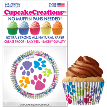 Picture of BAKING CUPS - STANDARD - PAW PRINT 32/PKG