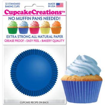 Picture of BAKING CUPS - STANDARD - BLUE 32/PKG