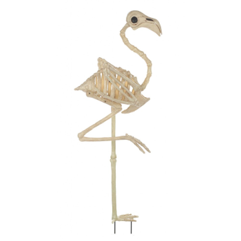 "Picture of 33.75"" SKELETON FLAMINGO W/ GROUND STAKE"