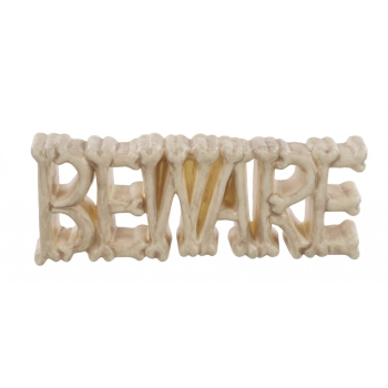 "Picture of 18"" BEWARE BONE SIGN"