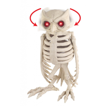 Picture of SKELETON OWL - ANIMATED W/LIGHT UP EYE/SOUND