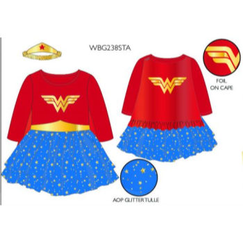 Image de WONDER WOMAN TUTU SUIT WITH HEADBAND - 3T