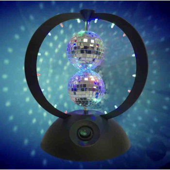 Picture of ELECTRONICS - TWIN HELIX - 2 ROTATING MIRROR BALL ONE ON TOP OF EACH OTHER