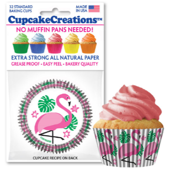 Picture of BAKING CUPS - STANDARD - PINK FLAMINGO