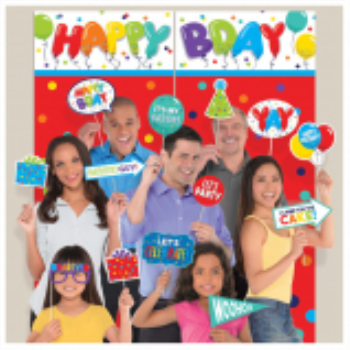 Picture of DECOR - Birthday Celebration Scene Setter With Props