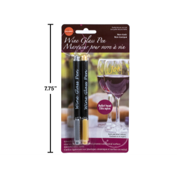 Image de COCKTAIL - PEN MARKERS FOR WINE GLASS - GOLD/SILVER