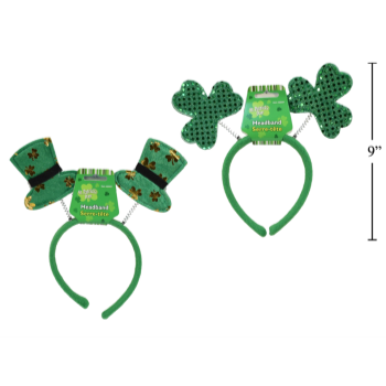 Picture of WEARABLES - ST PATRICK'S HEAD BOPPER - SHAMROCK OR TOP HAT
