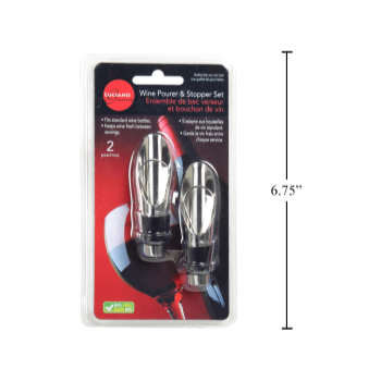 Image de COCKTAIL - WINE POURER AND STOPPER SET