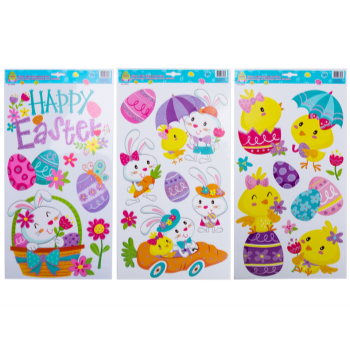 Picture of DECOR - EASTER GLITTER WINDOW CLINGS
