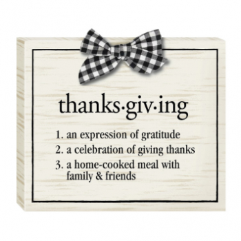 Picture of THANKSGIVING STANDING SIGN
